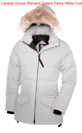 Canada Goose Womens Solaris Parka White Outlet